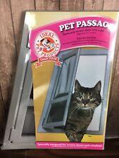 Pet Passage Screen Door Window Flap Magnetic Lock Lockable Dog Cat Puppy Ideal