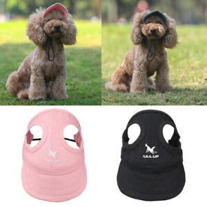 1PC Dog Hat Summer Baseball Dog Sun Hat Cap With Ear Holes Size S-XL Solid
