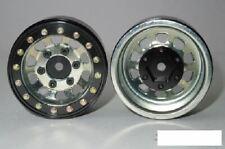"1.55"" Steel D Hole Beadlock Wheels SILVER 6 bolt mounting SSD00099 Hex Mount RC"