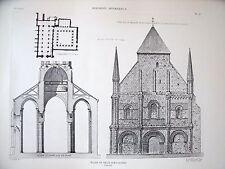 Eglise de Nieuil sur l'Autise (Vendée) planche début XX°