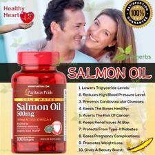 SALMON OIL 500mg Omega 3 Heart Arthritis Gut Joint Vitamin Supplement 100Softgel