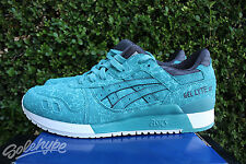 ASICS GEL LYTE III 3 SZ 9 KINGFISHER BLUE TEAL BLACK WHITE H6U2Y 4848