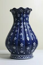 GMUNDNER Keramik | Vase blau | Dirndl | Höhe 27 | TOP ZUSTAND
