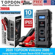 Topdon 12V Car Battery Jump Starter Portable Booster 2000A 20800mAh Power Bank