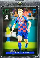 2019 Panini Chronicles Frenkie De Jong Green Parallel RC Netherlands Barcelona