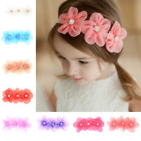 Infant Baby Girls Flower Headband Hairbands Kids Headwear Hair Accessories LJ