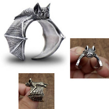 Adjustable Bat Rings Fashion Cute Vintage Jewelry For Women Men Vampire Style