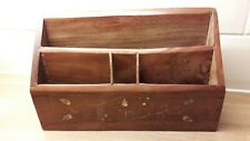 Brass Inlay Wooden Indian Letter Rack