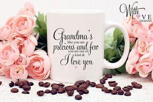 GRANDMA NANNY NAN COFFEE MUG TEA CUP BIRTHDAY CHRISTMAS PERSONALISED GIFT