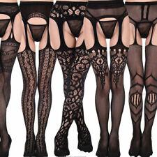 Various Bodystocking Sexy Women Sheer Lace Top Thigh-Highs Garter Belt Suspender