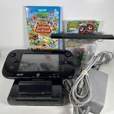 Nintendo Wii U Console Animal Crossing Bundle 32 GB w/ 3 Games + Amiibo, Tested!