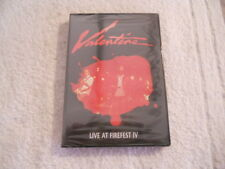 "Valentine ""Live at Firefest IV"" Rare Dvd 114 Min. Plus Open Skyz Hugo New Sealed"