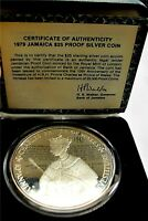 1979 Jamaica Sterling Silver Coin Crown $25 Dollars 136 gr. PROOF Charles KM#81