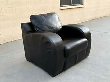 Art Deco Revival Oversized Leather Club Chair