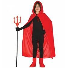 INFANTIL TERCIOPELO ROJO Largo Capa Con Capucha Halloween Medieval Disfraz Niña
