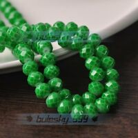 NEW 4mm 6mm 8mm 10mm Faceted Rondelle Charms Glass Loose Spacer Beads Findings