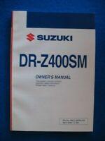 SUZUKI 2009 DR-Z400SM DRZ400 BRAND NEW ORIGINAL FACTORY OWNERS MANUAL P771