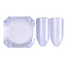 2g Mirror Pearl Powder Dust Shimmer Mermaid Nail Art Glitter BORN PRETTY White