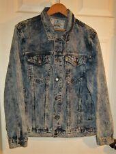 Jeanus by Randolph Duke women sz L blue tunic jean jacket denim button down up