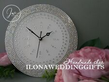 Swarovski Crystal Rhinestone Bling Sparkle Silent Wall Clock Watch Elegant Gift