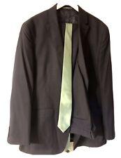 Men's Two Piece Suit By Savane - With Tie: Jacket 44L. Pants 38x30