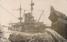 Lundy. HMS Montague Shipwreck by S.J.Allen, Pembroke Dock.
