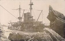 Lundy. HMS Montague Shipwreck by S.J.Allen, Pembroke Dock.