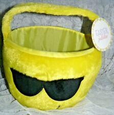 EMOJI Sunglasses Face Plush Basket