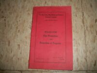 New York New Haven & Hartford Railroad Co NYNH&H RR Fire Prevention book 1944