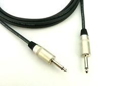 """Jack to Jack 0.5m 1/4"""" Amp Cab Speaker PA Lead Neutrik Rean 2 Core 1.5mm² Cable"""