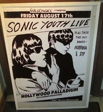 SONIC YOUTH RARE NEW POSTER  MID 2000'S VINTAGE COLLECTIBLE NIRVANA STP