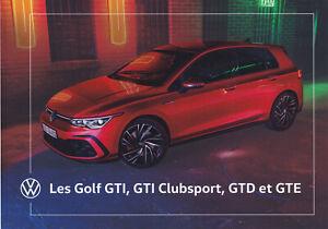 brochure 2020 VOLKSWAGEN GOLF GTI, GTI CLUBSPORT, GTD, GTE !!! en français