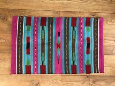 Colourful Handwoven Flat Weave Handloom Cotton Indian Dhurrie Mat