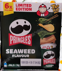 NEW 6 x 134G Pringles Seaweed Potato Chips Pantry Snacks Limited Edition