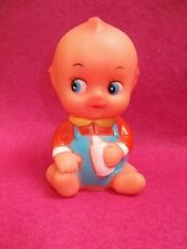 RETRO LITTLE KEWPIE DOLL BABY WITH BOTTLE; SQUEAKS! FUN, ADORABLE & COLLECTABLE
