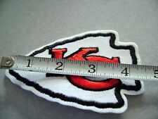 KC Kansas City Chiefs  Football Patch Large 4.5 inch Iron On FREE SHIPPING