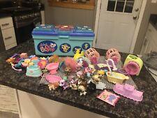Littlest Pet Shop Carry Storage Case 17 Pets Lots Of Accessories Hasbro Lot