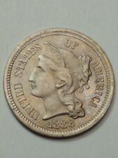 1888. Three Cent Nickel.**Free Shipping**