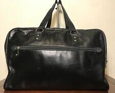 Vintage Black Roots Canada Large Leather Duffel Travel Doctors Shoulder Bag