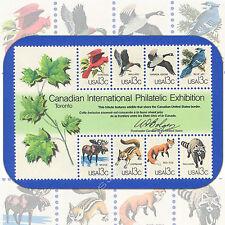 1978  Canadian  CAPEX  Wildlife  Souvenir Sheet of 8  MINT 13¢ Stamps  Cat #1757