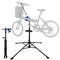 Bike Adjustable 42 - 74'' Bicycle Rack Repair Stand w/Tool Tray &Telescopic Arm