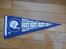 "Vintage NFL 1970's Football Mini Pennant 12"" Baltimore Colts Indianapolis"