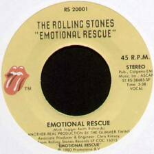 "ROLLING STONES ~ EMOTIONAL RESCUE / DOWN IN THE HOLE ~ 1980 US 7"" SINGLE"