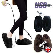 Pantofole USB Termiche Piedi In Peluche Inverno Riscaldate Pantofole Uomo Donna