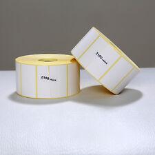 12 Rollen Etiketten 57x32 mm Thermo Etiketten ECO 2100 pro Rolle für Zebra Aver