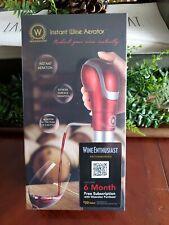 Waerator Instant Wine Aerator & Decanter 1-Button Perfect Aeration - New!