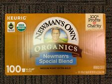 Newman's Own Organics Special Blend Coffee Keurig 100 K-Cups 100 Count Med Roast