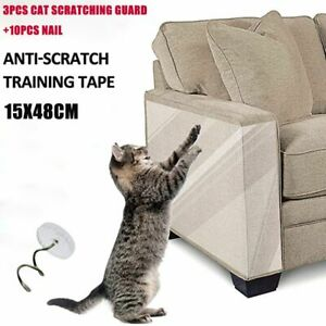 3pcs Anti Scratch Tape  Cat Scratch Deterrent Furniture Protector Protection Pad