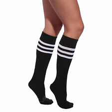 FOOTBALL CHEERLEADER SOCKS SPORT OVER KNEE HIGH STRIPED SOCKS 1/2/5 PAIRS