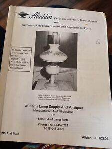 Vintage Aladdin Lamps  Kerosene - electric Mantle lamps replacement parts